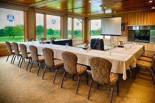 Corporate meeting in the Gallery overlooking the golf course at Hazeltine National Golf Club