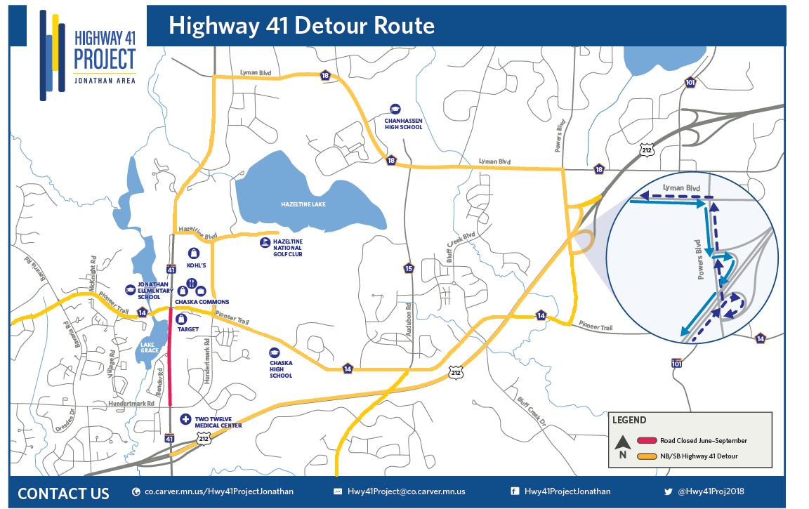 HWY 41 Detour