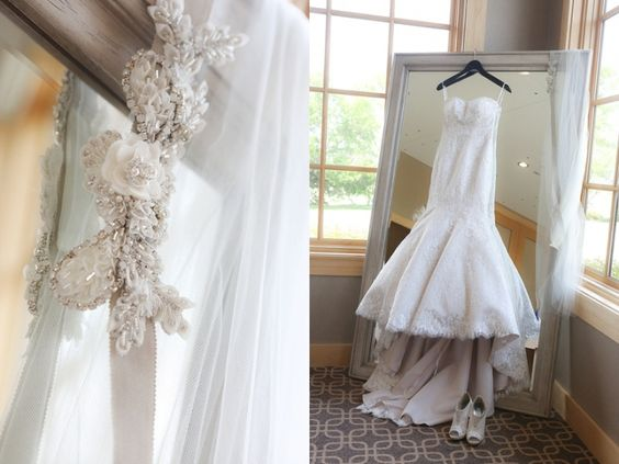 Wedding dress in the Bridal Suite at Hazeltine National Golf Club