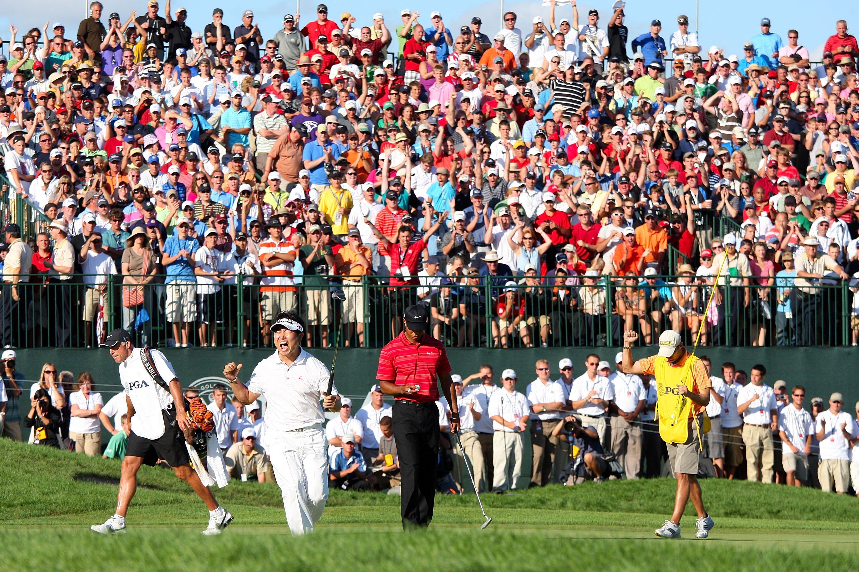 Y.E. Yang & Tiger Woods