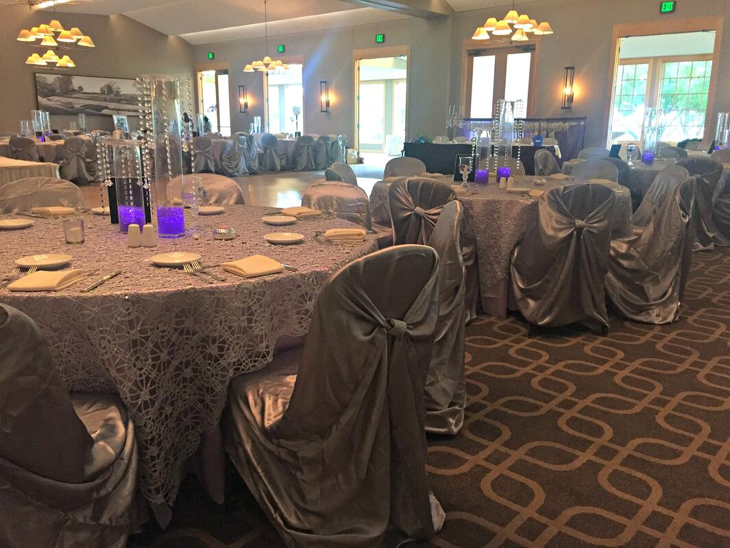 Guests at a fundraising gala at Hazeltine National Golf Club enjoy wonderful views of the golf course