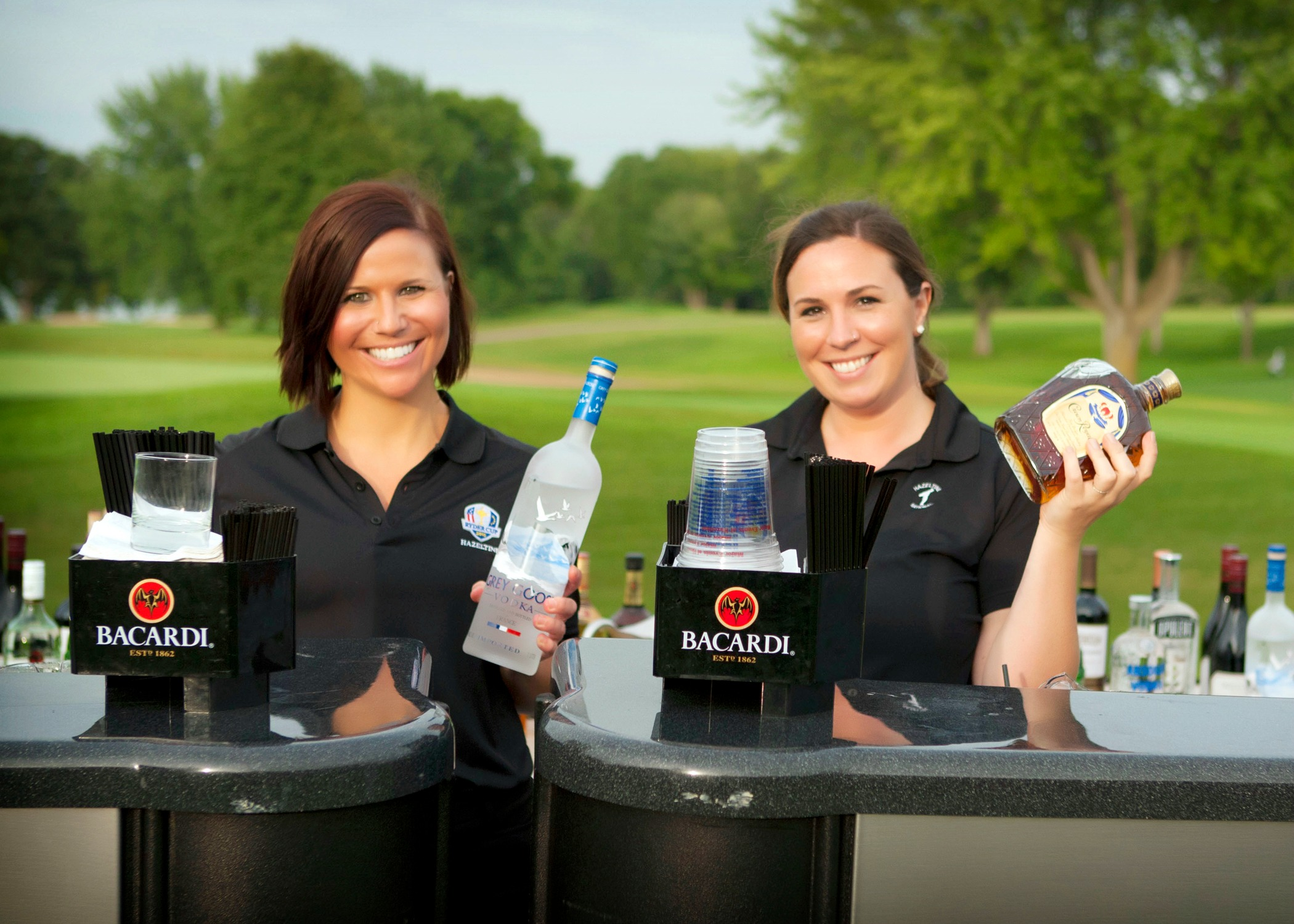 Bartenders are ready to serve at Hazeltine National Golf Club