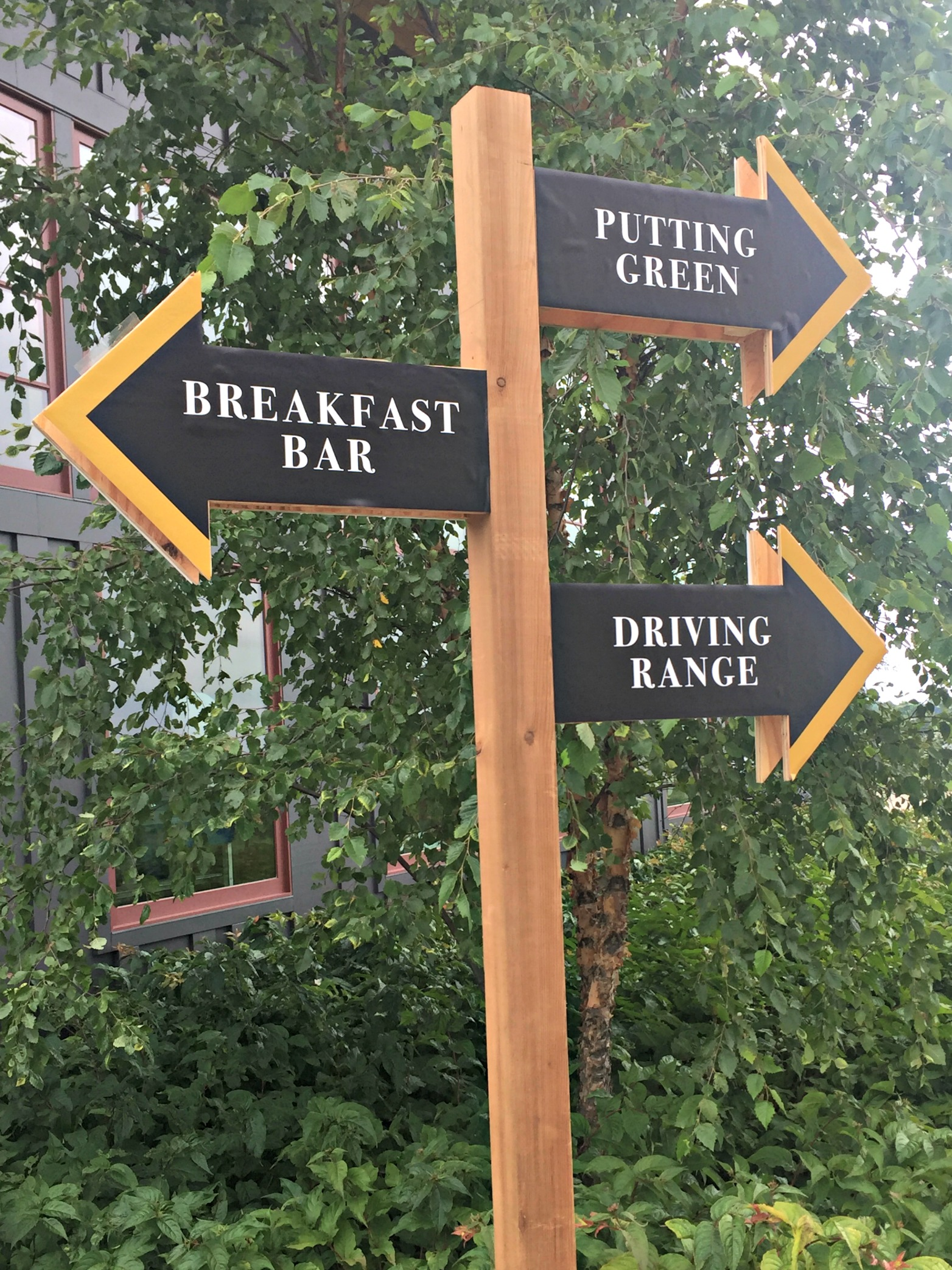 Golf Tournament Directional Signage helps guests find their way around Hazeltine National Golf Club