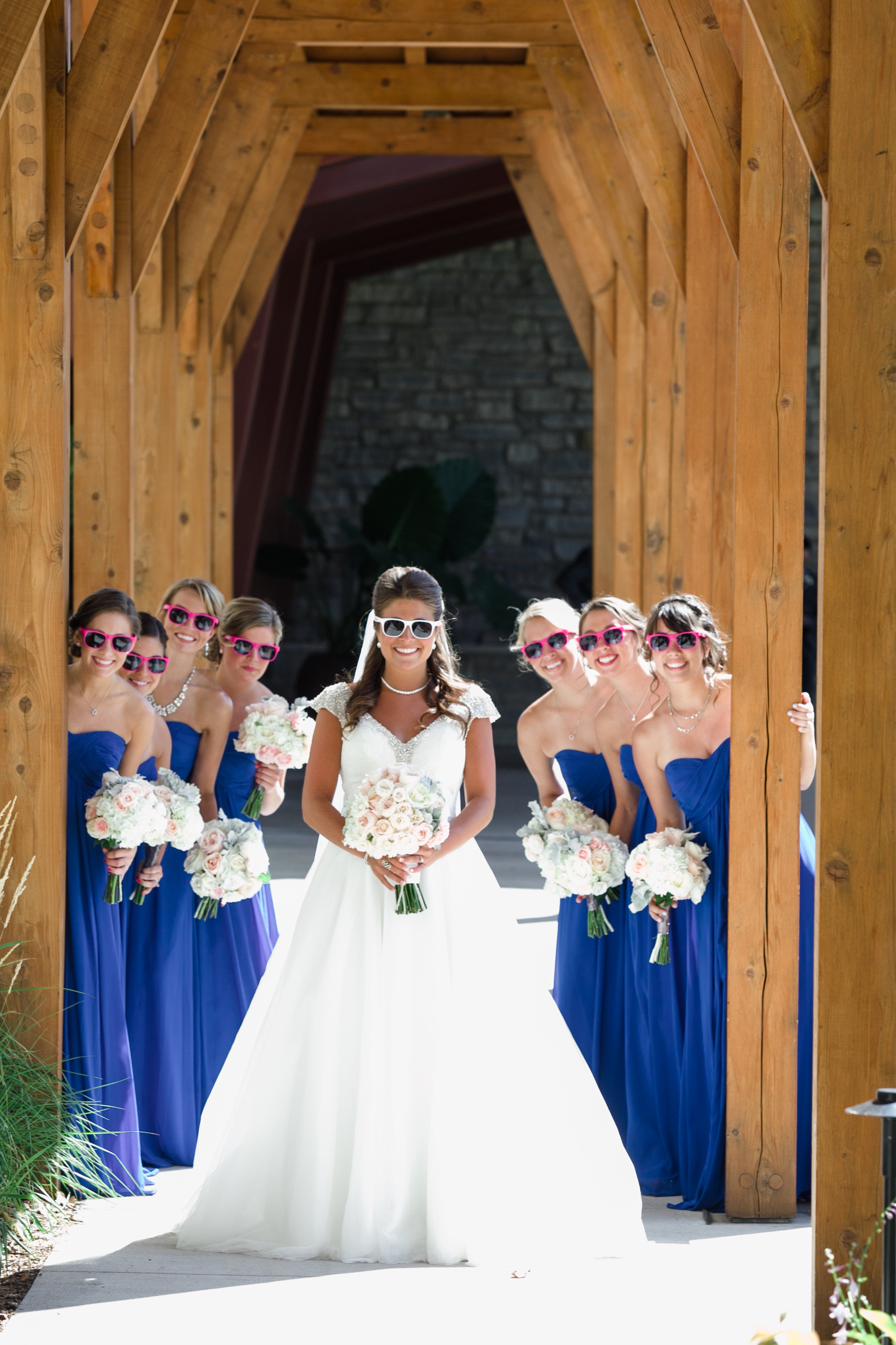 Bridal Party Outside Arch Silly - 7.jpg