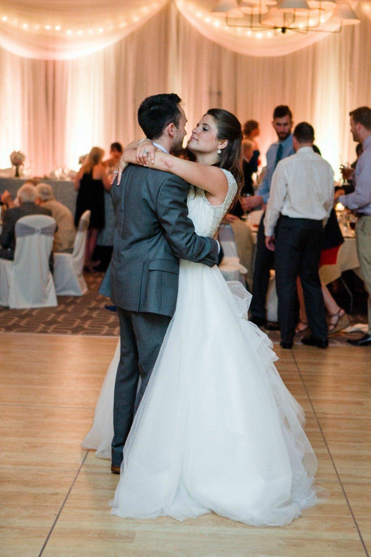 Couple's first wedding dance at Hazeltine National Golf Club