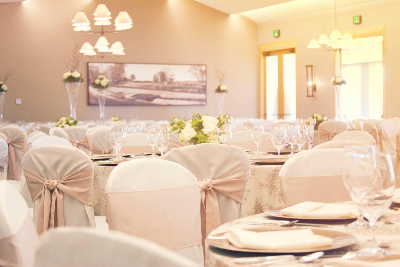An elegant wedding reception at Hazeltine National Golf Club