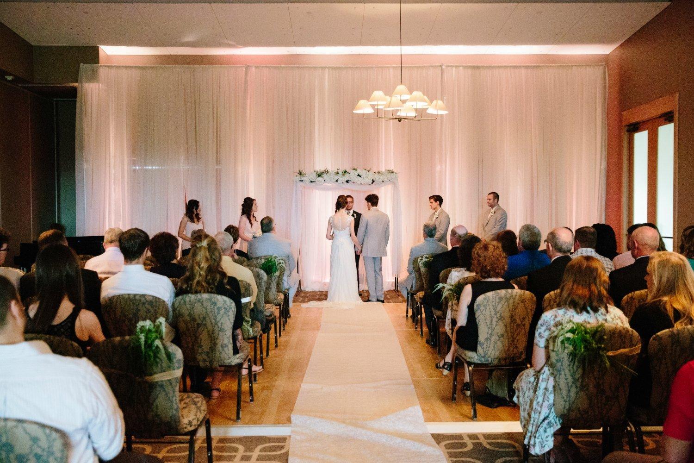 Wedding ceremony at Hazeltine National Golf Club