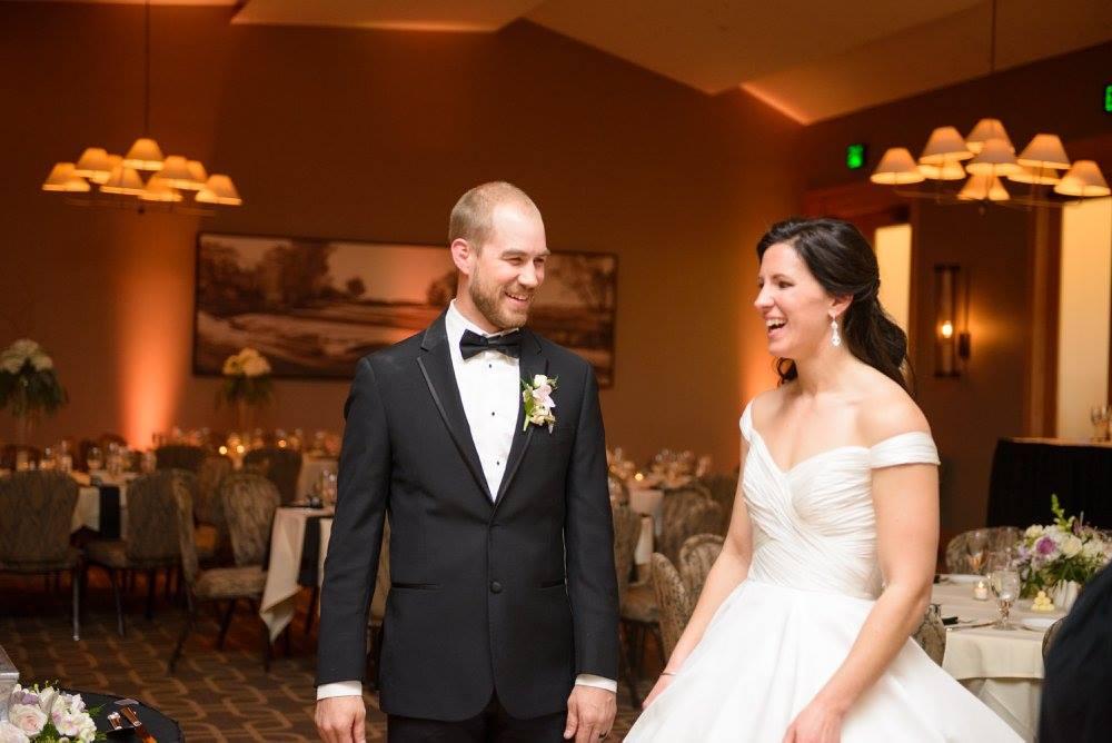 Wedding couple at Hazeltine National Golf Club