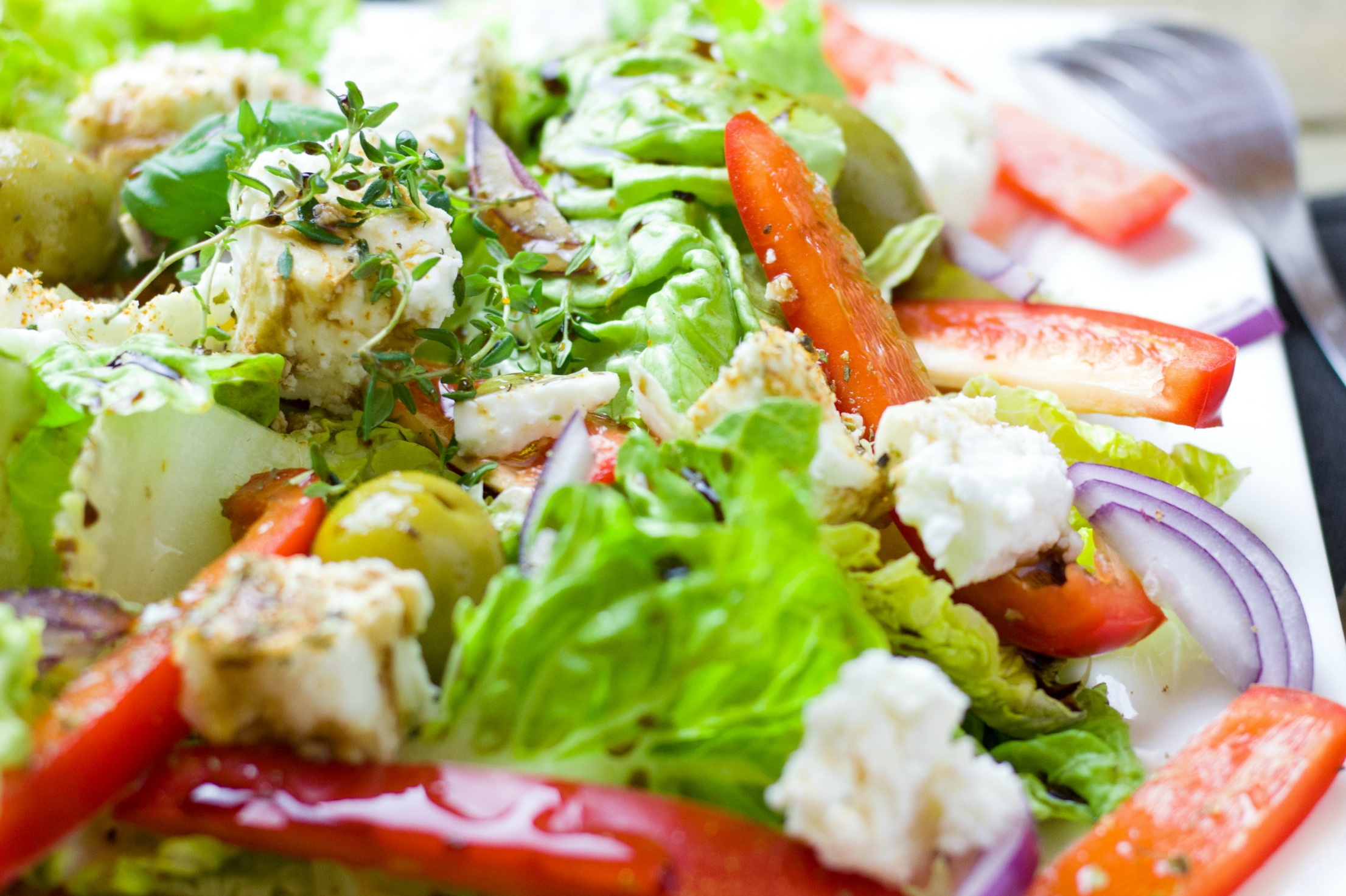 Fresh salads kick off dinner for a fundraising gala at Hazeltine National Golf Club